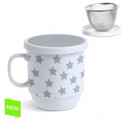 Taza con filtro estrella gris