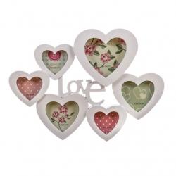 Portafotos multiple corazones LOVE .