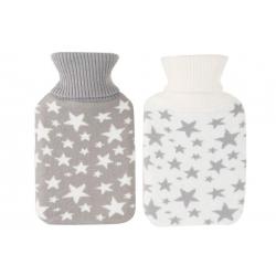 Bolsa agua caliente de 1 litros con funda estrellas .
