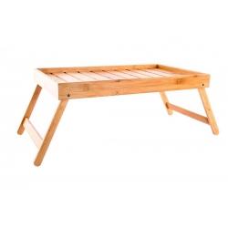 Bandeja plegable con patas bambú natural 50 x 30 x 22 cm