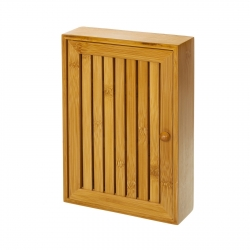 Caja de llaves bambú natural 19 x 6 x 27 cm .