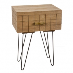 Mueble madera natural 1 cajon .