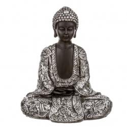 Figura buda mujer sentado resina 27.5 cm .