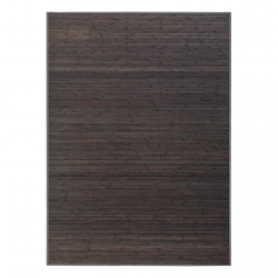 Alfombra de salón o comedor industrial gris de bambú de 180 x 250 cm Factory