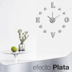 Reloj de Pared 3D Adhesivos DIY Moderno Decoración Adorno para Hogar Habitación romantico