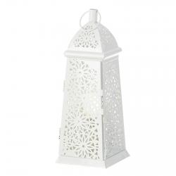 Lámpara de sobremesa árabe blanca de metal para la entrada Arabia .