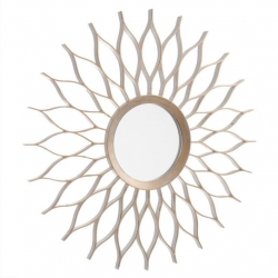 Espejo de pared cobre champagne 50 cm .