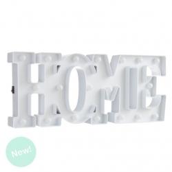 Letras home de leds blanca decorativa .