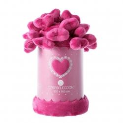 Manta de sofá romántica rosa de poliéster para salón Child