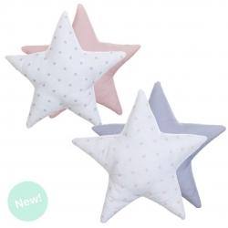 Juego de 2 Cojines originales diseño forma estrella 40x40 cm