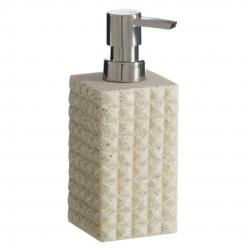 Dosificador jabón arena de baño modernos beige de poliresina para cuarto de baño Factory