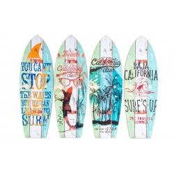 "Decoracion cuadro madera """"SURF"""" 13x40 cm ( Set 4 cuadro )"