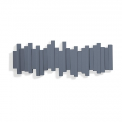 Perchero plegable de pared Sticks azul