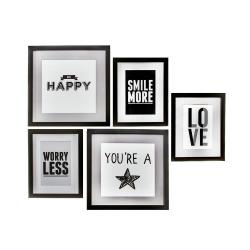 """Cuadros decorativos combinado frase """" HAPPY & LOVE """""""