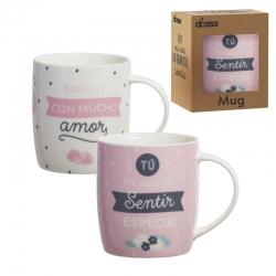 Tazas diseño original frases romanticas (Set de 2 mug)