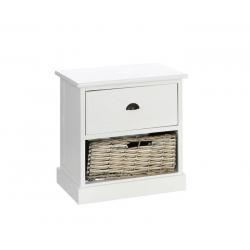 Mueble cajonera auxiliar blanco-natural 40 x 29 x 41 cm