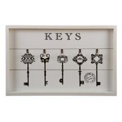 Cuelga llaves clasica de madera 42x 27 cm .