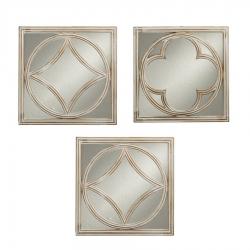 Espejos de pared árabes plateados para salón de 25 cm Arabia