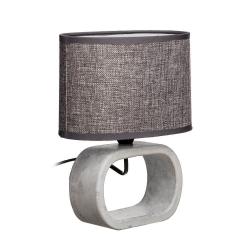 Lámpara de mesita de noche moderna gris de cerámica para decoración Bretaña