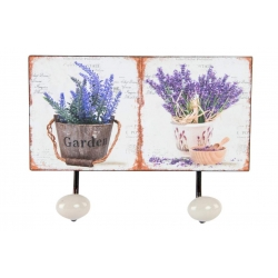 Perchero pared metal doble lavanda .