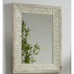 Espejo de pared madera tallada giena 75x95 cm .