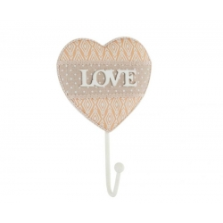 "Perchero de pared madera de 1 gancho "" Love """