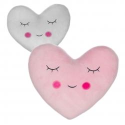 Juego de 2 cojines relax extrasuave en forma de corazon