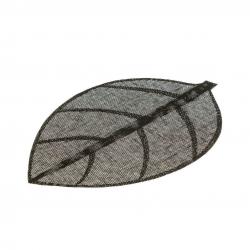 Juego de 4 salvamanteles de mesa hoja negro fibra 50 x 33 cm .