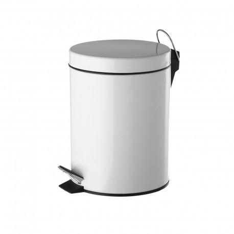 Papelera blanco metal 17 x 23 x 25,50 cm capacidad: 3 litros.