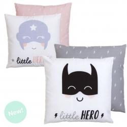 Set de 2 cojines infantil Heroes 45x45 cm