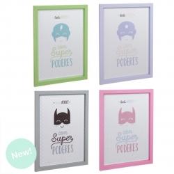 "Set 4 cuadros infantil diseño little ""Heroes"""