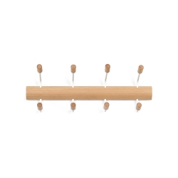 Perchero de pared de estilo Umbra Pogo 4 gancho, blanco/natural .