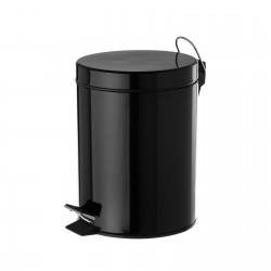 Papelera negro metal 17 x 23 x 25,50 cm capacidad: 3 litros.