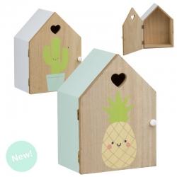 Juego de 2 casitas madera diseño Infantil cactus y piña !