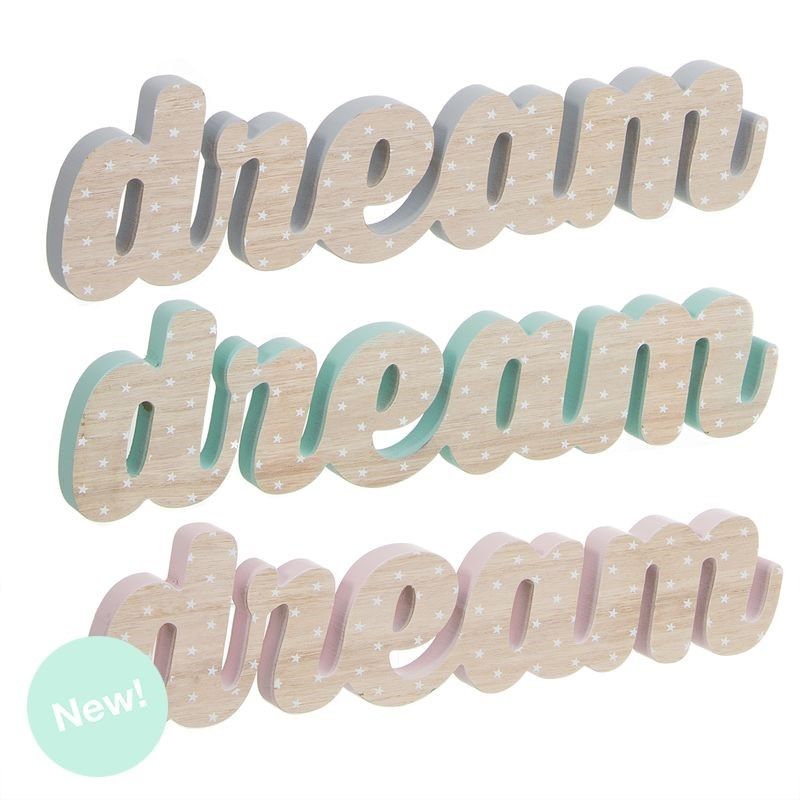 Letras madera decorativas infantil dream - Letras decorativas madera ...