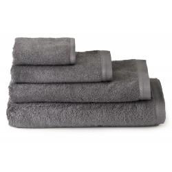 Juego de Toallas gris 100% algodón rizo americano. 550 gr/m2. 4/piezas