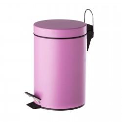 Papelera malva metal 20 x 17 x 26 cm capacidad: 3 litros.