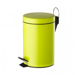 Papelera verde metal 17 x 23 x 25,50 cm capacidad: 3 litros.