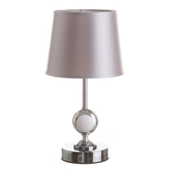 Lámpara de mesita de noche moderna plateada de porcelana para dormitorio Arabia