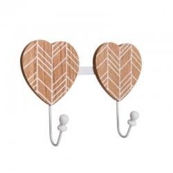 Percha corazon de madera decoración 26 x 5,50 x 18,50 cm .