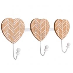 Percha corazon de madera decoración 48 x 5,50 x 18,50 cm .
