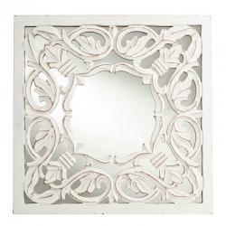Mural de espejo provenzal blanco de madera para decoración Vitta