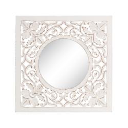 Mural de espejo árabe blanco de madera para decoración Vitta