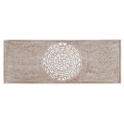 Mural cabecero clásico gris de madera para dormitorio 45 x 120 cm Sol Naciente
