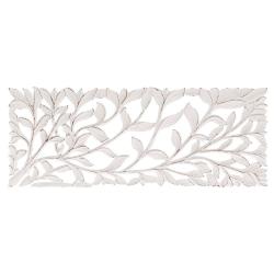 Mural cabecero romántico blanco de madera para decoración Vitta
