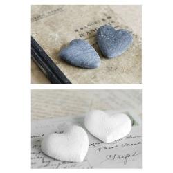 Set 2 cuadro fotoimpresión lienzo corazon 70x50 cm .