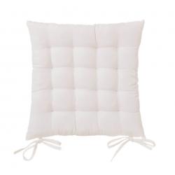 Cojín de 40x40 moderno blanco de algodón / poliéster para salón Fantasy