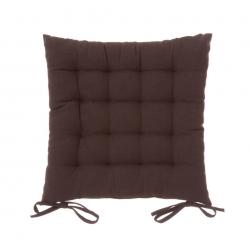 Cojín de 40x40 moderno marrón de algodón / poliéster para salón Bretaña