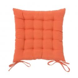 Cojín de 40x40 moderno naranja de algodón / poliéster para salón Sol Naciente