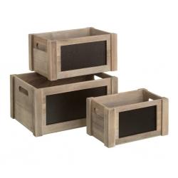 Cajas de pizarra románticas gris de madera para dormitorio Factory